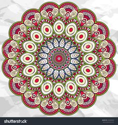 Mandala. Round Ornament vector Pattern. Vintage decorative elements. Hand drawn background. Islam, Arabic, Indian, ottoman motifs.