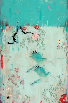 artist: Kathe Fraga ~ French Wallpaper Series ~ evokes the hand-painted, time-worn walls of a grand old Parisian mansion. Art And Illustration, Art Chinois, Of Wallpaper, French Wallpaper, Chinoiserie, Cat Art, Oeuvre D'art, Painting Inspiration, Abstract Art