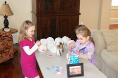 decorate lanterns at a's rapunzel party? from oriental trading co