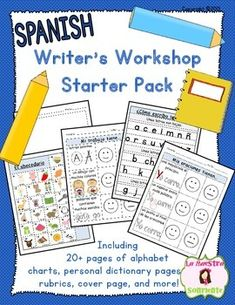 Spanish Build a Journal: Writing Workshop Binder: Complete with alphabet reference pages, rubrics, handwriting charts, and more! $