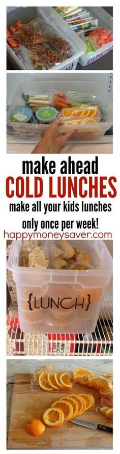 Awesome kids lunch ideas for helping save time. Make all your lunches in one day for the week and have your kids grab their own lunch. So smart!