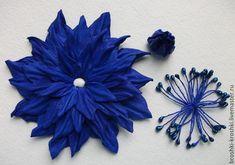 махровый цветок брошка