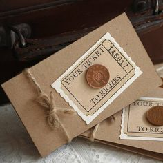 Five Ticket To Riches Scratch Card Holders - wedding favours Unusual Wedding Favours, Homemade Wedding Favors, Vintage Wedding Favors, Creative Wedding Favors, Inexpensive Wedding Favors, Cheap Favors, Wedding Favors For Guests, Wedding Ideas, Wedding Stuff