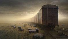 Image Detail for - The last train Photo (train, surrealism)