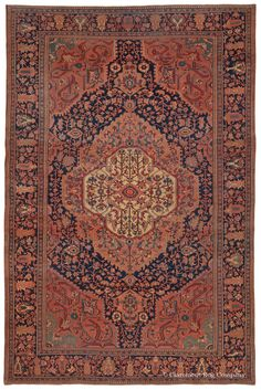 FERAHAN SAROUK - West Central Persian 9ft 0in x 13ft 10in Late 19th Century