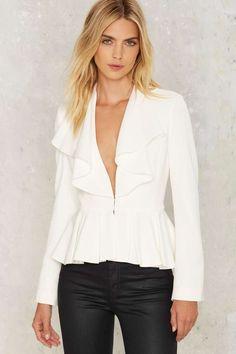 Do Me a Favor Ruffle Blazer - Clothes | Romantic Revolution | Blazers + Capes