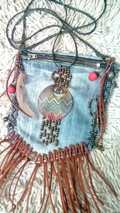 Bunte Patchwork Stoff Tasche Hippie Vintage Goa Used Look Indien Streifen Beach