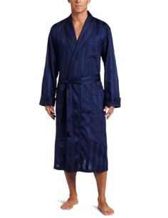 Derek Rose Men's Lingfield Robe, Navy, X-Large Three patch pockets. Meitered edges on pockets. Shawl collar. Color fast and preshrunk fabric. Turned back cuff with scalloped edge.  #Derek_Rose #Apparel