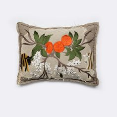 Orange Blossom Cushion by Bokja