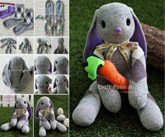 Floppy Eared Sock Bunny Free Pattern Video Tutorial