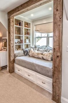 In terms of colours and materials, contemporary rustic farmhouse looks favour wh. In terms of colours and materials, contemporary rustic farmhouse looks favour whites and greys on t Farmhouse Furniture, New Furniture, Farmhouse Flooring, Farmhouse Remodel, Bedroom Furniture, Casas Country, Rustic Contemporary, Modern Rustic, My New Room