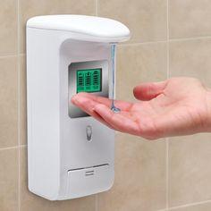 The Hands Free Shower Dispenser - Hammacher Schlemmer