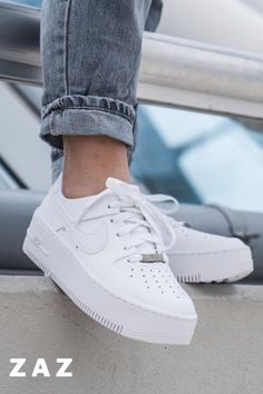 ◀Previous Post Next Post▶ Nike Air Force 1 Sage Low. Take a look at these stunning white nike air force 1 for women. These nike [. White Nike Shoes, White Nikes, White Tennis Shoes, Womens Fashion Sneakers, Fashion Shoes, Nike Women Sneakers, Womens White Sneakers, Souliers Nike, Sneakers Mode