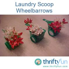 Crafts Using Laundry Detergent Scoops
