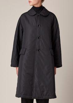 Comme des Garcons COMME Quilted Plain Coat (Black)