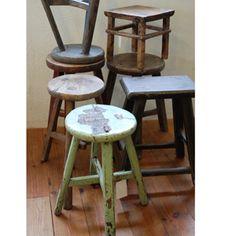 アンティーク丸スツール antique stool