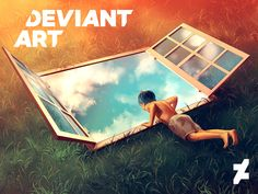 Make our #DeviantArtLogo your own! Download and create your own piece: DeviantArt.com/OurStory | Art by Aquasixio