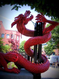 dragon in chinatown, victoria, bc