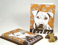 Custom Pet Stationery, $20 for a set of 10 notecards with envelopes. Printed on heavy weight, 100% recycled cardstock.