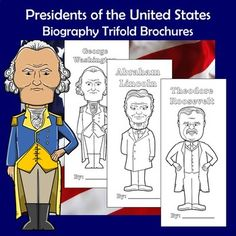 This set of trifold brochures features all 45 U.S. presidents from George Washington to Donald Trump. These brochures are a perfect way to ensure your students are keeping their information organized and focusing on the most important aspects of the person they're studying. This activity is great f... Education Middle School, Middle School Grades, Preschool Special Education, High School Classroom, School Levels, Primary Classroom, Social Studies Lesson Plans, Social Studies Activities, History Activities