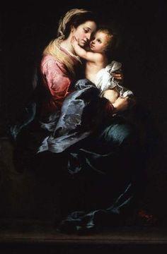 Virgin and Child, 1650 - Bartolome Esteban Murillo