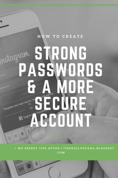 How to create a strong password and a more secure account ~ The Daily Gyana Make A Password, Create Strong Password, Permutations And Combinations, Good Passwords, Meaningful Quotes, Sentences, Knowing You, Accounting, Poems
