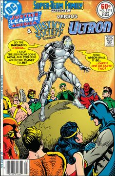 Super-Team Family: The Lost Issues! Dc Comics Vs Marvel, Hq Marvel, Dc Comics Art, Marvel Comic Books, Comic Books Art, Comic Art, Looney Tunes, Marvel And Dc Crossover, Avengers