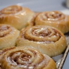 Save yourself a lot of money by making your own homemade cinnamon rolls! The dough is made in the bread machine and everything else is done by hand.