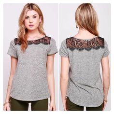 Alli Nicole Boutique - Dainty Lace Tee, $18.00 (http://www.allinicoleboutique.com/dainty-lace-tee/) #lace #black #outfits #fashion #dressup #pretty #tops #clothing #outfit #spring