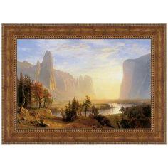 Design Toscano Yosemite Valley, 1868 by Albert Bierstadt Framed Painting Print Size: Medium