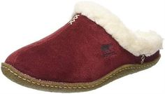 Sorel Women's Nakiska Slide Slipper, Red, 11 D US: Removable molded eva footbed covered with wool/Acrylic blend. Wool/Acrylic blend lining. Birthday Gifts For Grandma, Best Birthday Gifts, Grandma Gifts, 31 Birthday, Winter Slippers, Cute Slippers, Suede Leather, Soft Leather, 70 Year Old Women