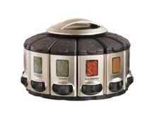 Amazon.com: Kitchenart Pro Auto-measure Spice Carousel, Stainless Steel Satin: Kitchen & Dining