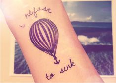 air balloon tattoo designs with sayings