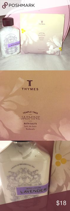 Archipelago Lotion & Thymes Bath Salts Both are brand new and never used. Luxury lotion and bath salts. Would like to sell as a bundle. Other