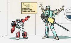 No Guns, No Swords, No Briefcases by Onsaud