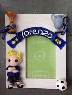 Inter Supporter Frame - made with fimo