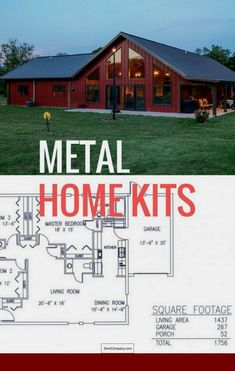 We have completed the list of the best metal home kits. - CLICK PIN for Lots of Po . We have completed the list of the best metal home kits. - CLICK PIN for Lots of Po . Metal Building Home Kits, Metal Home Kits, Metal Building Homes Cost, Metal Barn Homes, Pole Barn Homes, Building A House, Building Ideas, Pole Barns, Metal Homes Plans