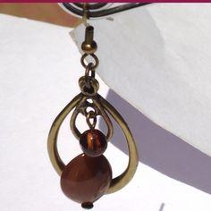 Upto 50% off Eshaa jewellery-rust red dangler earrings in vintage finish