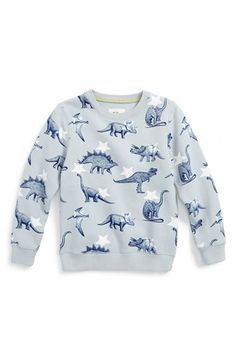 Mini Boden 'Jurassic' Graphic Sweatshirt (Toddler Boys, Little Boys & Big Boys) available at #Nordstrom