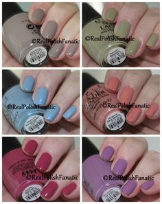 Fall Winter 2017 OPI Iceland Collection Swatches