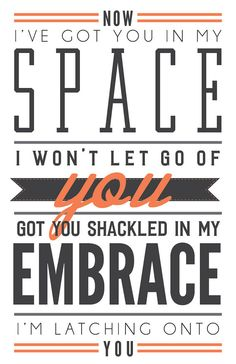 Latch by Disclosure // Poster // Lyrics // Wall Decor // 11x17  https://www.etsy.com/listing/167531264/latch-by-disclosure-poster-lyrics-wall?ref=pr_shop