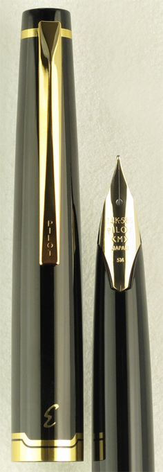 Pilot E95s Black with Gold Trim Fountain Pen