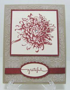 Stampin' Up! Blooming with Kindness Cherry Cobbler Grateful Card Kit - Set of 4 #StampinUp