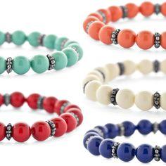 Crystal Pearls Stretch Bracelets