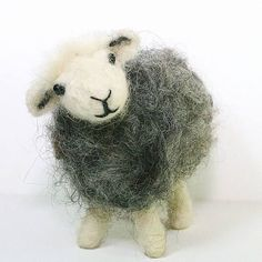 Sheep felting kit for beginners/Herdwick sheep felting kit/Needle felted Herdwick sheep/Gift for sheep lovers A beautiful felting starter kit suitable for beginners, those wanting to improve their skills or simply just to create a unique handmade gift. Every needle felting kit contains all you need to get you started on your creative journey; detailed tutorial and instructions, size guide and dozens of photographs guide you step by addictive step. No tricky patterns. No sewin...