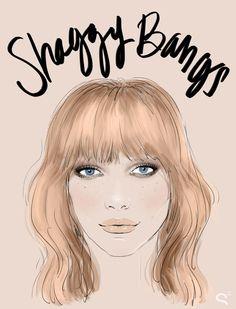 shaggy bangs1 Bang Gangs: How the Coolest Girls Wear Bangs
