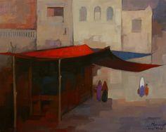 Marwayit Hapiz, Öl auf Leinwand, 40 x 50.