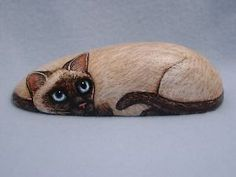 Siamese Cat Handpainted Rock