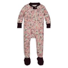 Burt's Bees Baby® Autumn Foliage Organic Cotton Footed Pajama in Pink