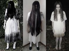 """A fantasia da Samara, do filme """"Chamado"""", pode ser simples e prática. #halloween"""